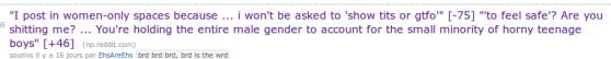 """""""Je poste dans des espaces réservés aux femmes parce que..."""